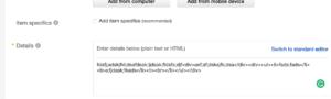 Inserting HTML Code