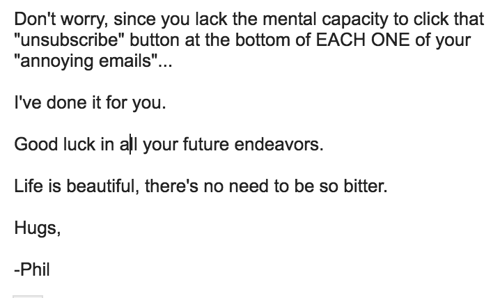 My Reply To Douchebaggius Maximus